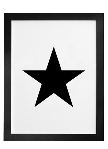Nordbagen Black Star Poster Siyah